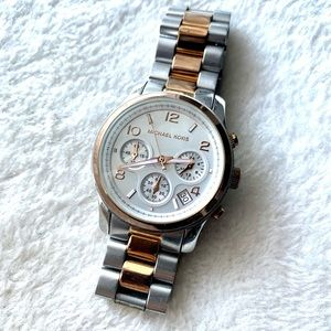 Michael Kors Two-tone Silver and Rose Gold Watch